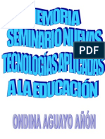 Memoria Seminario TIC