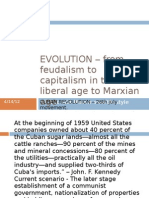 EVOLUTION – from feudalism to capitalism in the
