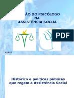 Atuação do psicologo na assistência social CRAS e CREAS