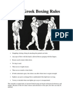 Ancient Greek Boxing Rules