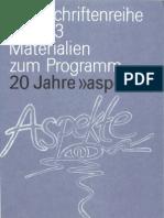 ZDF Schriftenreihe 33-20 Jahre Aspekte