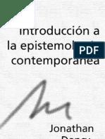 Filosofбa De La Ciencia - Jonathan Dancy - Introducciвn A La Epistemologбa Contemporаnea