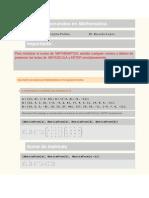 Comandos Mathematica