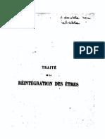 Martines de Pasqually_Traite de La Reintegration