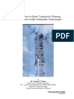 Draft Report on Rural Connectivity Planning and Related Locally Sustainable Technologies