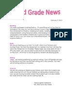 Newsletter 2-9-12