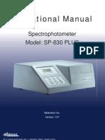 SP830plus Operational Manual v107 090326