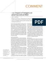 The Impact of Mergerss on Pharmaceutical R&D