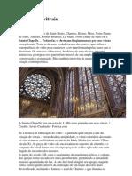 A Arte Dos Vitrais Imagem Da Capela Santa Em Paris