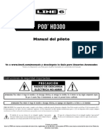 POD HD300 Quick Start Guide - Spanish ( Rev C )