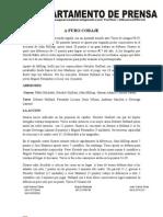 Nota de Prensa Guaros-Toros Maracay Juego # 2 14-04-2012