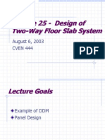 Lecture25,Design of Two Way Slab