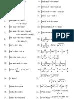 Calculus Elementary Formulas