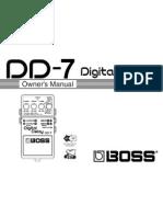 Manual BOSS Digital Delay (DD-7)