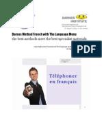 Telephoner en francais @ Language Menu With Barnes Method