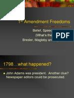 1st Amendment Freedoms Et Al