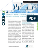 Optimizing the Global Trade Management Solution Evaluation, Selection Process
