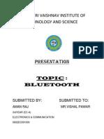Bluetooth Report