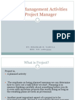 Project Management Activities of Project Manager by Bhaskar