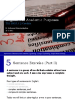 English - 5 Sentence Exercise II