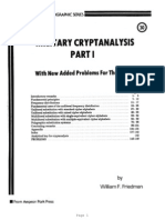 Military Crypt Analysis By Sreekanth Chaladi