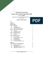 County Court Civil Procedure Rules 2008