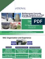 Многофункциональные системы бетонированного хранилища в Пост-Фукусимском пространстве