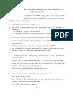How to de-Register Information Customer