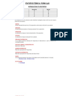 Statistics Terms & Formula