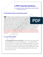 2011 the Benefits of a Master License Partnership