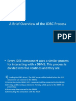 Brief Overview of JDBC Process