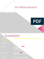 3. Ecosystem Measurement