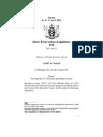 Maori Reservations Regulations 1994