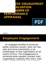 EMPLOYEE ENGAGEMENT AND EVALUATION  TECHNIQUES OF PERFORMANCE APPRAISAL by Deepak