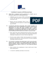 Amcham Response on Discussion Paper on FDI in Multibrand Retail Trading 2010