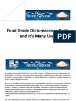 Food Grade Diatomaceous Earth and It's Many Uses