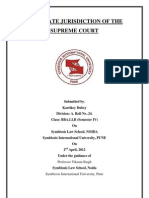 Appellate Jurisdiction of the Supreme Court