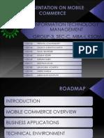 A Presentation on m Commerce