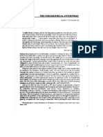 John Kavanaugh, The Philosophical Enterprise E-text