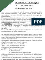 Pagina dei Catechisti - 15 aprile 2012