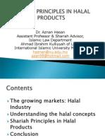 Shariah Principles in Halal Products