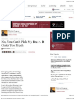 No, You Can't Pick My Brain. It Costs Too Much - Forbes