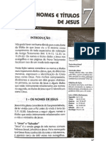 Nomes e Titulos de Jesus