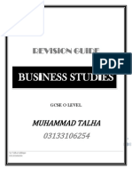 Business Studies Revision Guide O Level