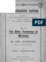 The Bible Testimony to Miracles