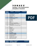 Maya Fundamentals checklist
