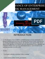 Relevance of Enterprise Risk Management 1