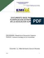 Documento Base Para La Planificacion Estrategica