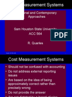 COST MEASUREMENT SYSTEM