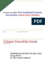 Pokok Bahasan 04 (Tahapan Pemodelan Sistem)